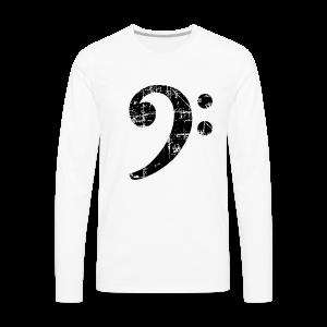 Bassschlüssel (Vintage Schwarz) Bass T-Shirt - Männer Premium Langarmshirt