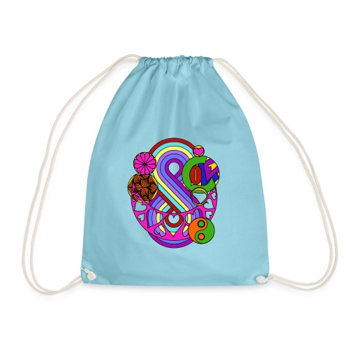 Coloured Love Mandala - Drawstring Bag