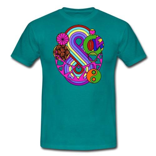 Coloured Love Mandala - Men's T-Shirt