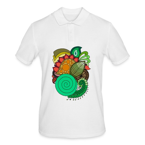 Coloured Leaf Mandala - Men's Polo Shirt