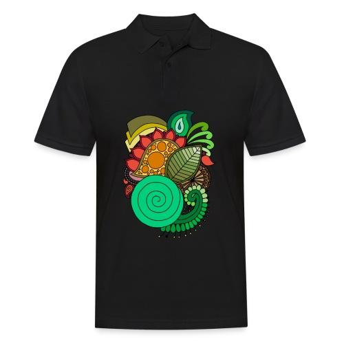 Coloured Leaf Mandala - Men's Polo Shirt