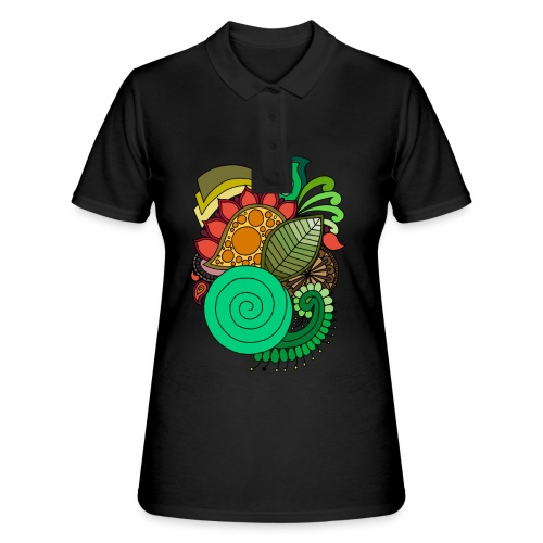 Coloured Leaf Mandala - Women's Polo Shirt
