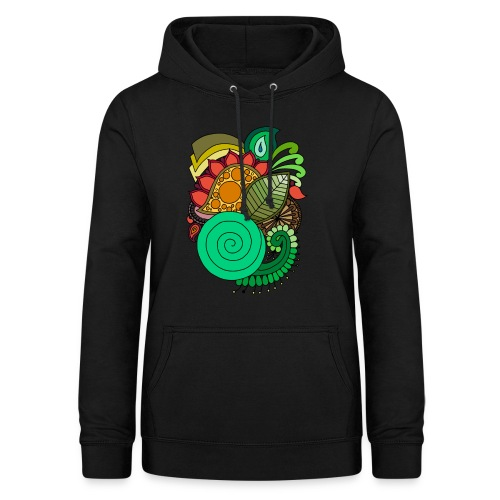 Coloured Leaf Mandala - Women's Hoodie