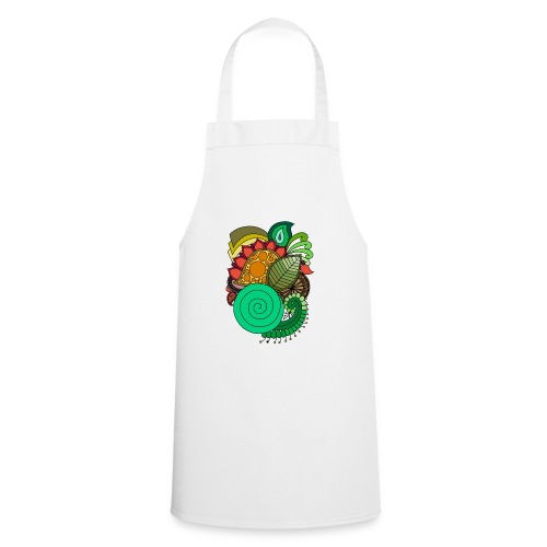 Coloured Leaf Mandala - Cooking Apron