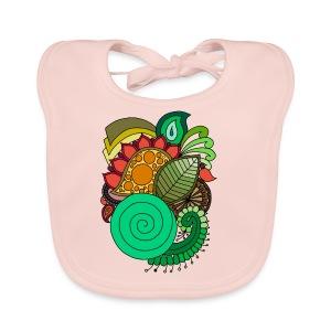 Coloured Leaf Mandala - Baby Organic Bib