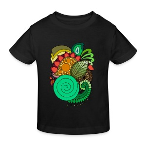 Coloured Leaf Mandala - Kids' Organic T-shirt