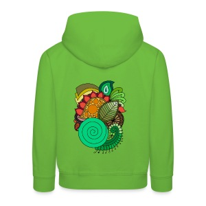 Coloured Leaf Mandala - Kids' Premium Hoodie