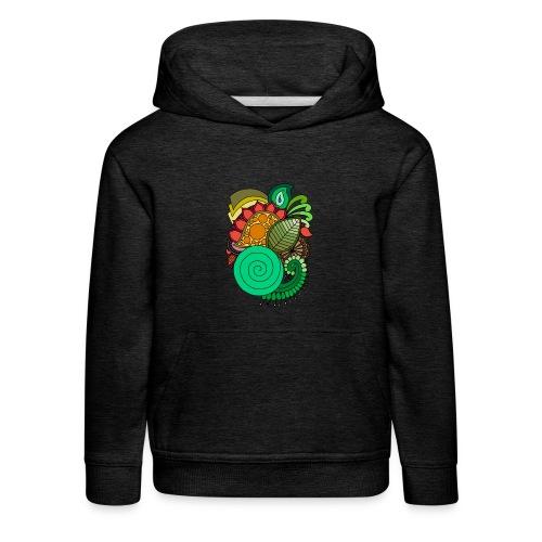 Coloured Leaf Mandala - Kids' Premium Hoodie