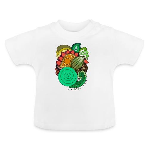 Coloured Leaf Mandala - Baby T-Shirt