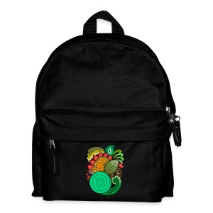 Coloured Leaf Mandala - Kids' Backpack