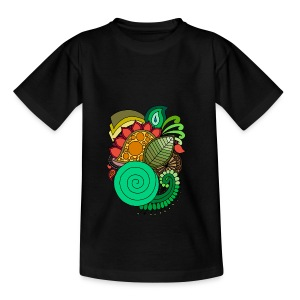 Coloured Leaf Mandala - Kids' T-Shirt