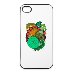 Coloured Leaf Mandala - iPhone 4/4s Hard Case