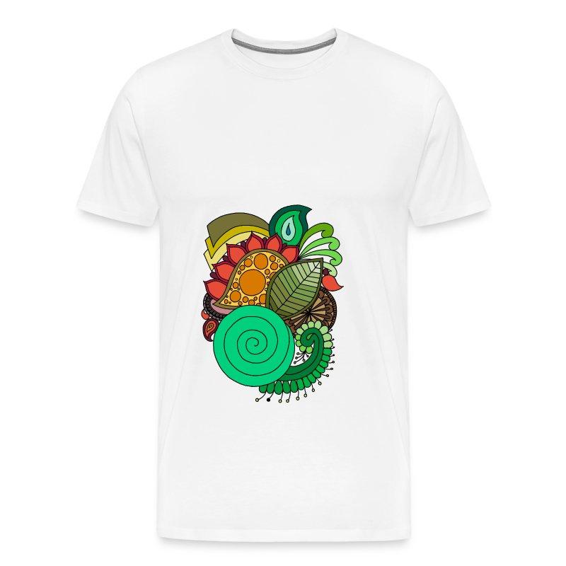 Coloured Leaf Mandala - Men's Premium T-Shirt