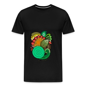 Coloured Leaf Mandala - Men's Premium T-Shirt