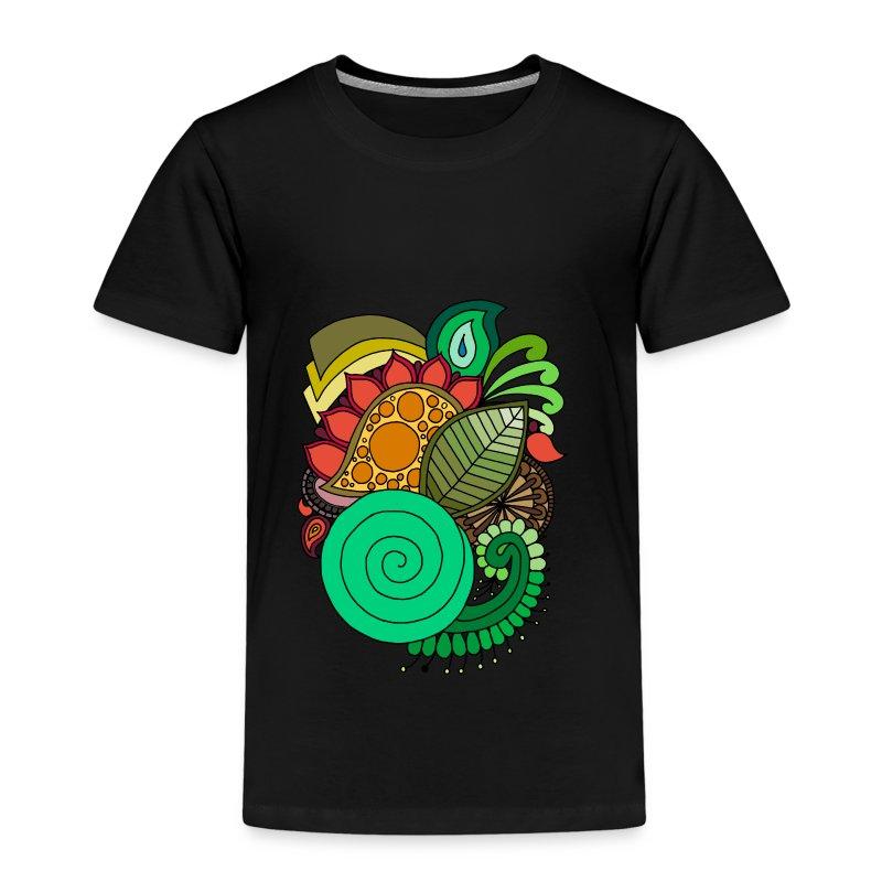 Coloured Leaf Mandala - Kids' Premium T-Shirt
