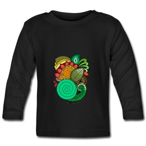 Coloured Leaf Mandala - Baby Long Sleeve T-Shirt