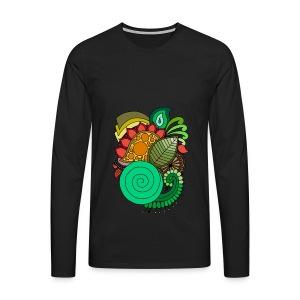 Coloured Leaf Mandala - Men's Premium Longsleeve Shirt
