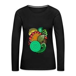 Coloured Leaf Mandala - Women's Premium Longsleeve Shirt