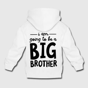 I Am Going To Be A Big Brother Skjorter - Premium Barne-hettegenser