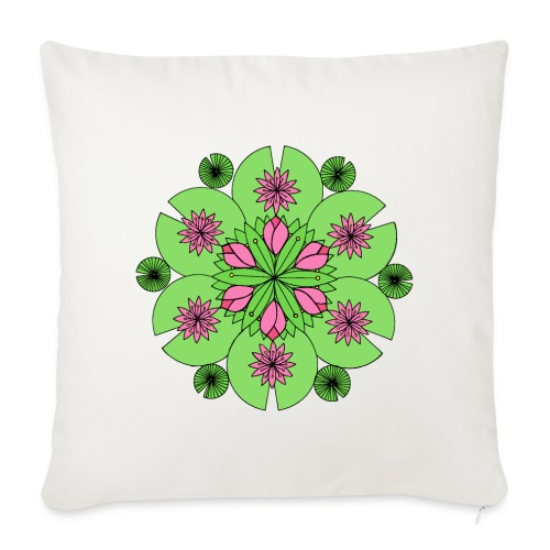 Pond Lotus Mandala - Sofa pillow cover 44 x 44 cm