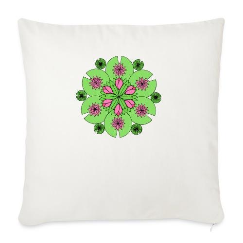 Pond Lotus Mandala - Sofa pillowcase 17,3'' x 17,3'' (45 x 45 cm)