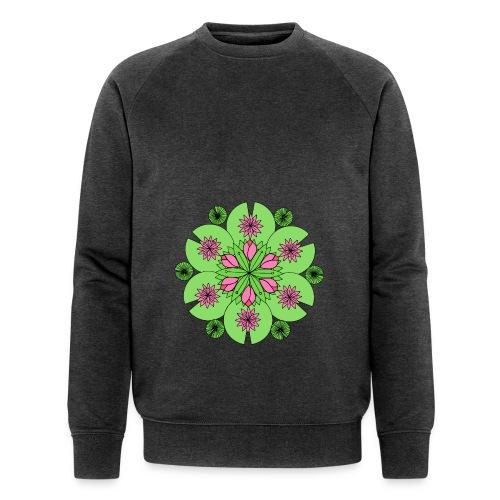 Pond Lotus Mandala - Men's Organic Sweatshirt by Stanley & Stella