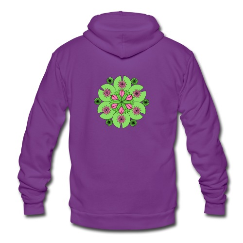 Pond Lotus Mandala - Unisex Hooded Jacket by Bella + Canvas