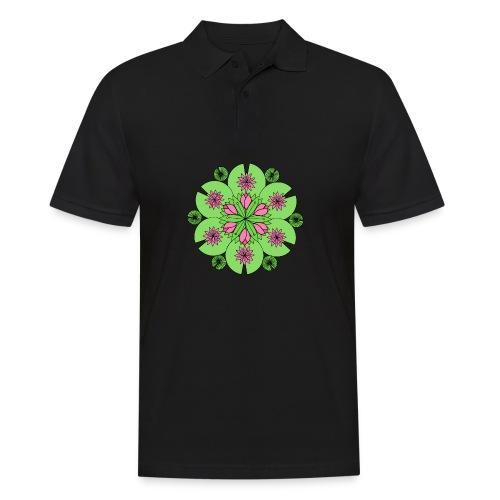Pond Lotus Mandala - Men's Polo Shirt