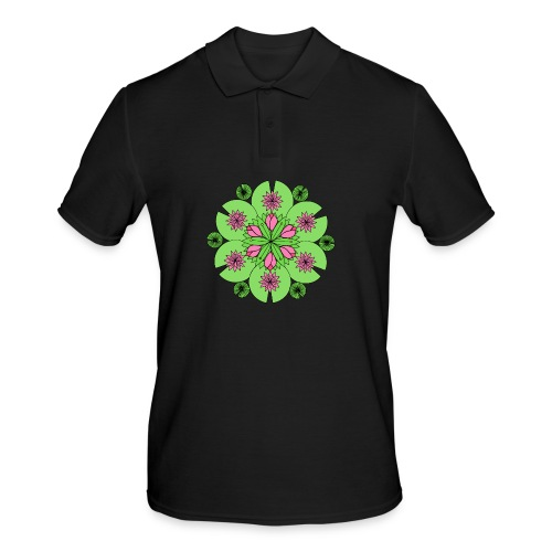 Pond Lotus Mandala - Men's Polo Shirt