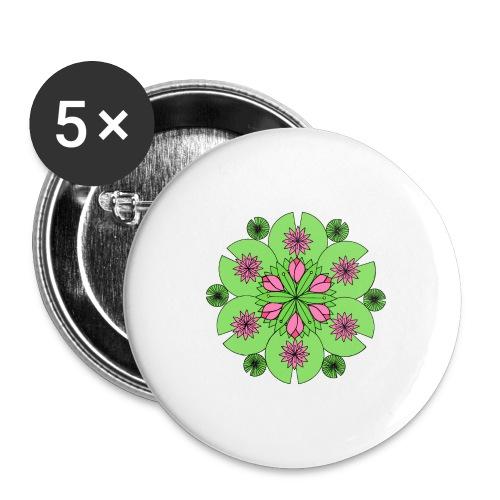 Pond Lotus Mandala - Buttons medium 32 mm