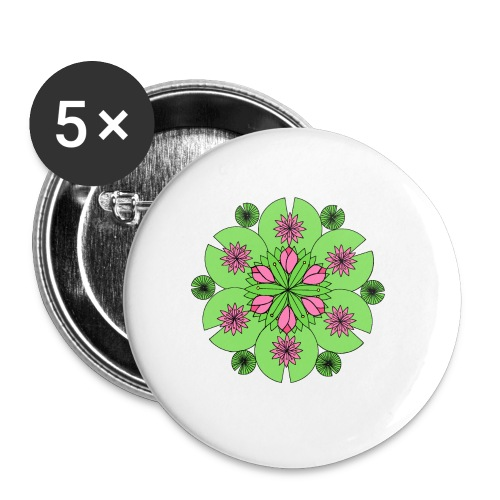 Pond Lotus Mandala - Buttons small 1''/25 mm (5-pack)