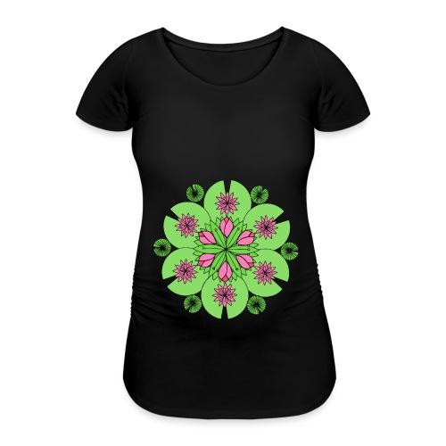 Pond Lotus Mandala - Women's Pregnancy T-Shirt