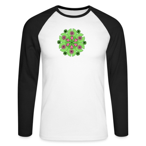 Pond Lotus Mandala - Men's Long Sleeve Baseball T-Shirt
