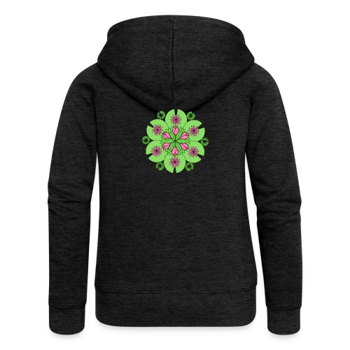 Pond Lotus Mandala - Women's Premium Hooded Jacket