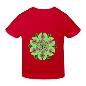 Pond Lotus Mandala - Kids' Organic T-shirt
