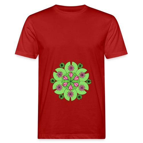 Pond Lotus Mandala - Men's Organic T-shirt