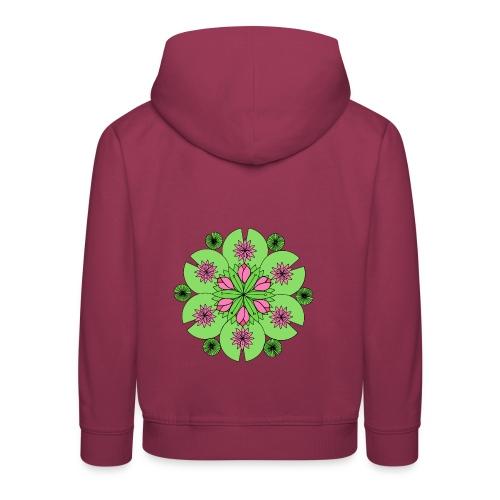 Pond Lotus Mandala - Kids' Premium Hoodie