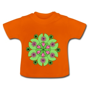 Pond Lotus Mandala - Baby T-Shirt