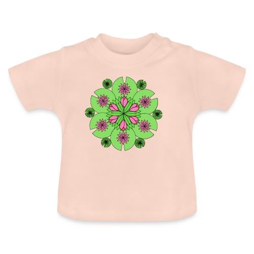 Pond Lotus Mandala - Baby T-Shirt