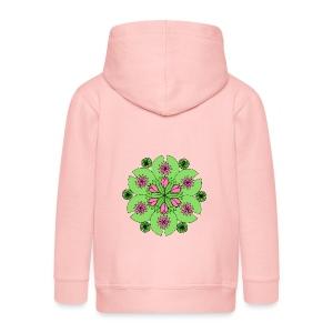 Pond Lotus Mandala - Kids' Premium Zip Hoodie