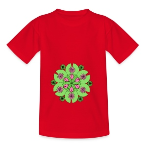 Pond Lotus Mandala - Kids' T-Shirt