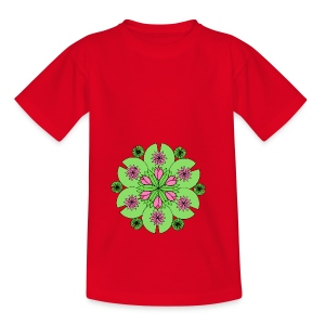 Pond Lotus Mandala - Teenage T-shirt