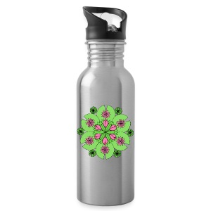Pond Lotus Mandala - Water Bottle