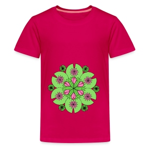 Pond Lotus Mandala - Teenage Premium T-Shirt