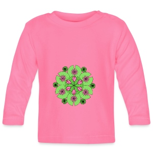 Pond Lotus Mandala - Baby Long Sleeve T-Shirt