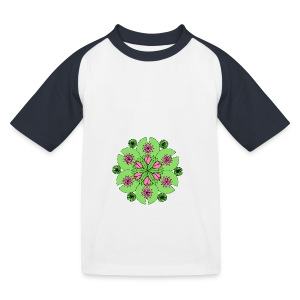 Pond Lotus Mandala - Kids' Baseball T-Shirt