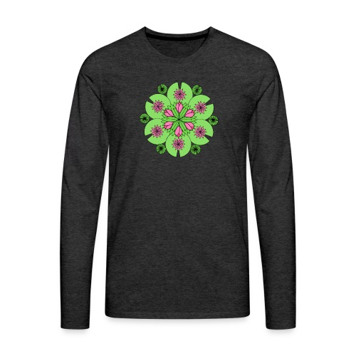 Pond Lotus Mandala - Men's Premium Longsleeve Shirt