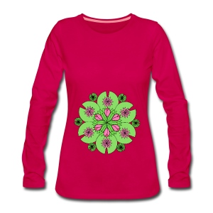 Pond Lotus Mandala - Women's Premium Longsleeve Shirt