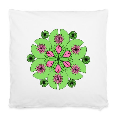Pond Lotus Mandala - Pillowcase 40 x 40 cm