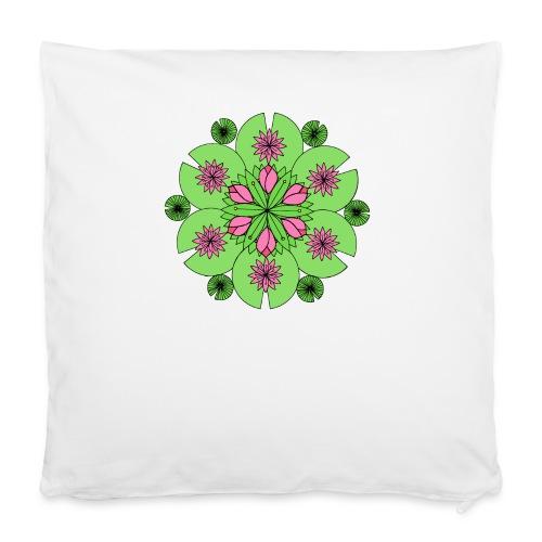 """Pond Lotus Mandala - Pillowcase 16"""" x 16"""" (40 x 40 cm)"""